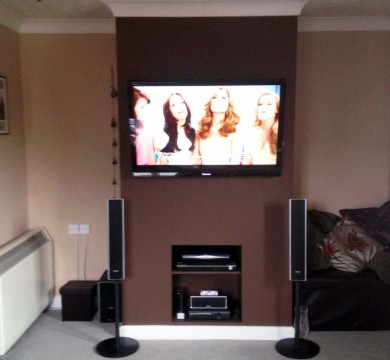 Fake Chimney Breast with Built in Storage