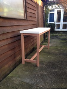 black table with glass top bognor regis 4
