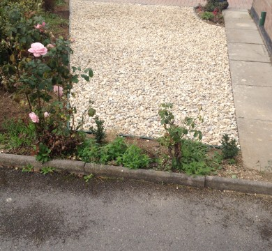 Shingled Area Beside Driveway in Pagham