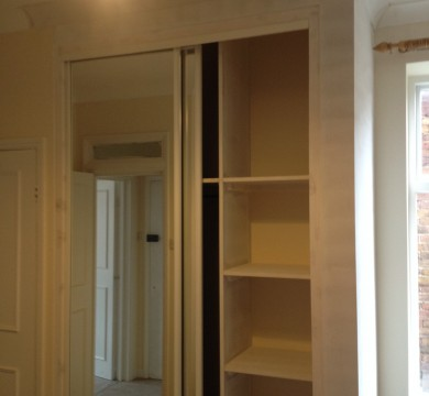Wardrobe with Mirror Sliding Doors